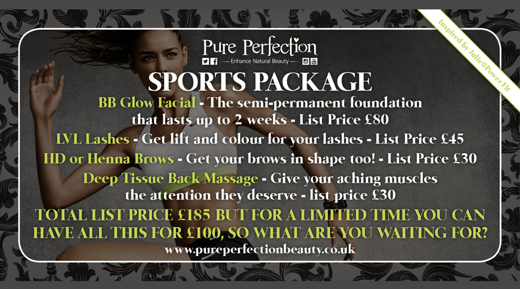 PURE PERFECTION SPORTS PACKAGES ADVERT